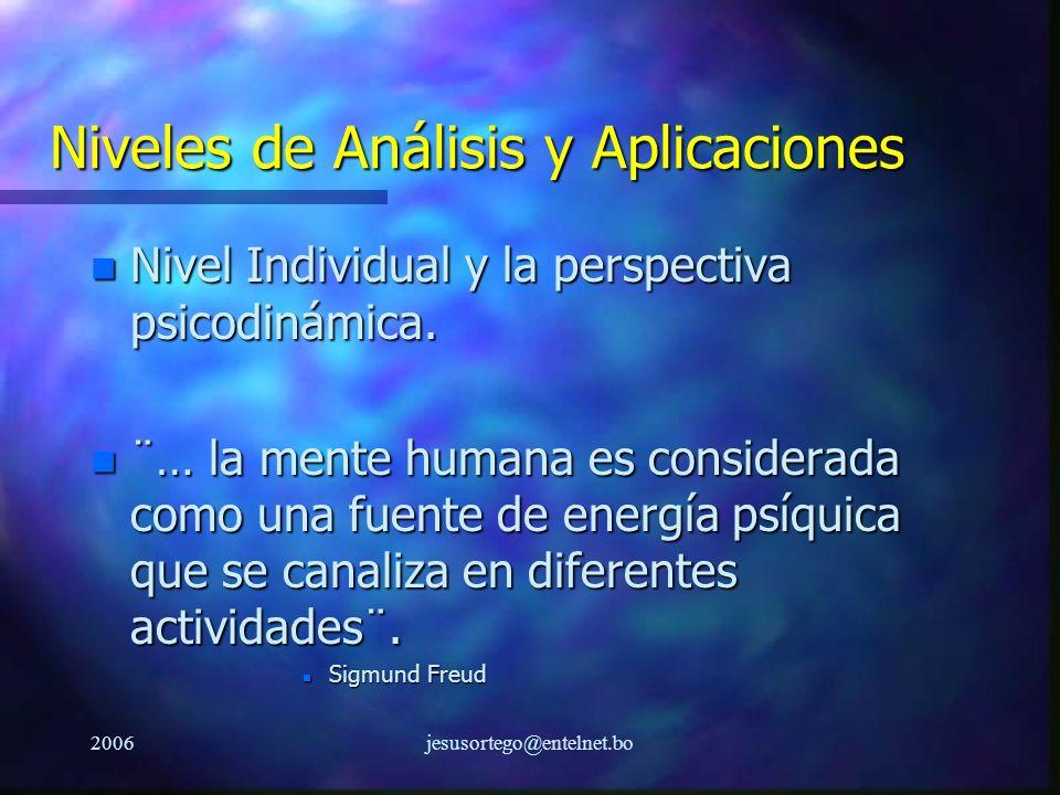 Niveles de Análisis y Aplicaciones