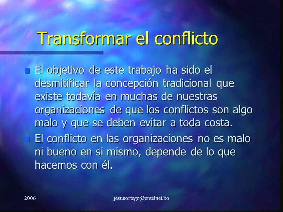 Transformar el conflicto