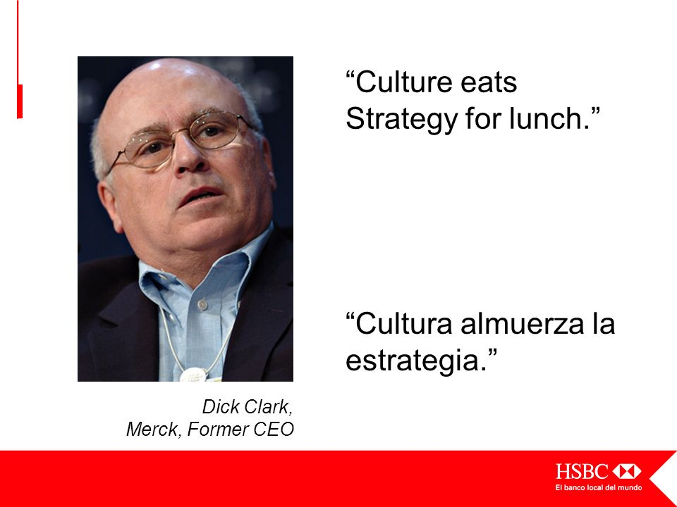 Culture eats Strategy for lunch.