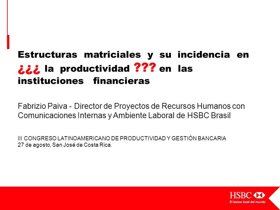 Estructuras matriciales y su incidencia en ¿¿¿ la productividad