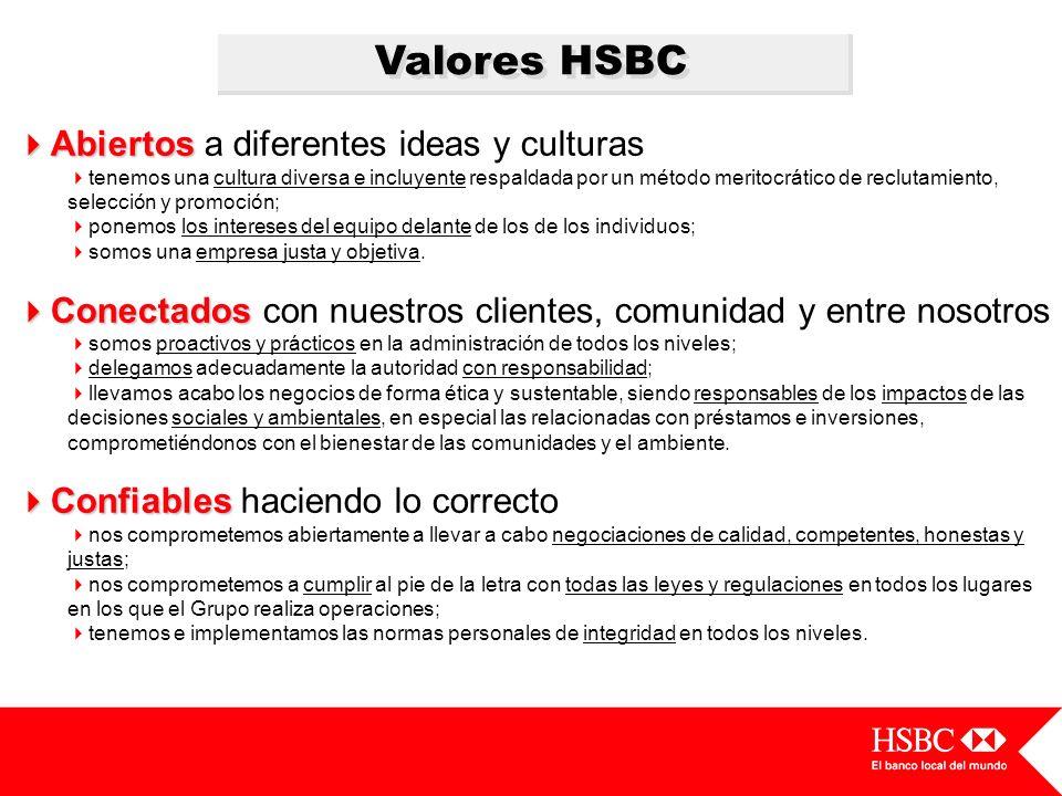Valores HSBC Abiertos a diferentes ideas y culturas