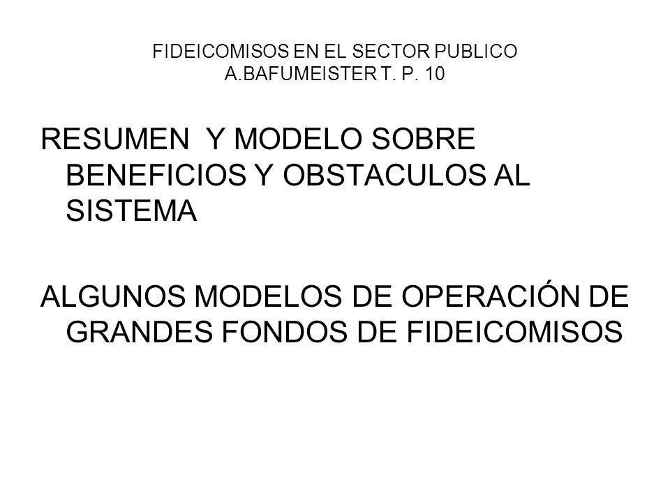 FIDEICOMISOS EN EL SECTOR PUBLICO A.BAFUMEISTER T. P. 10