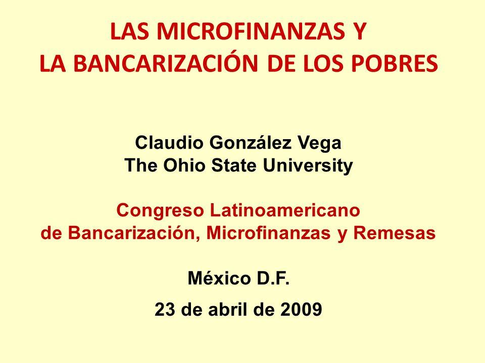 LAS MICROFINANZAS Y LA BANCARIZACIÓN DE LOS POBRES