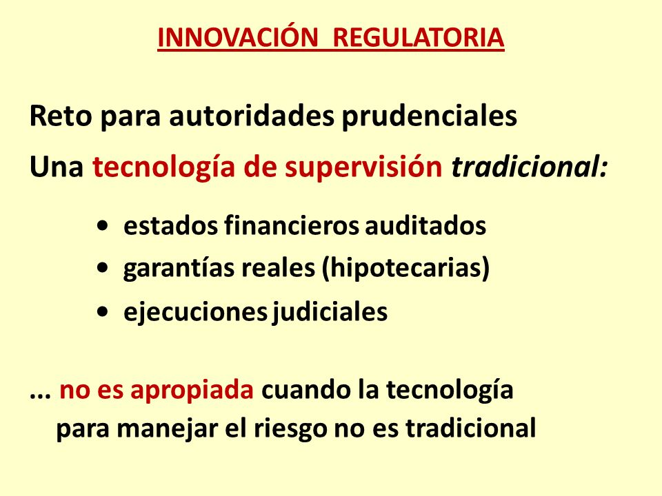 INNOVACIÓN REGULATORIA