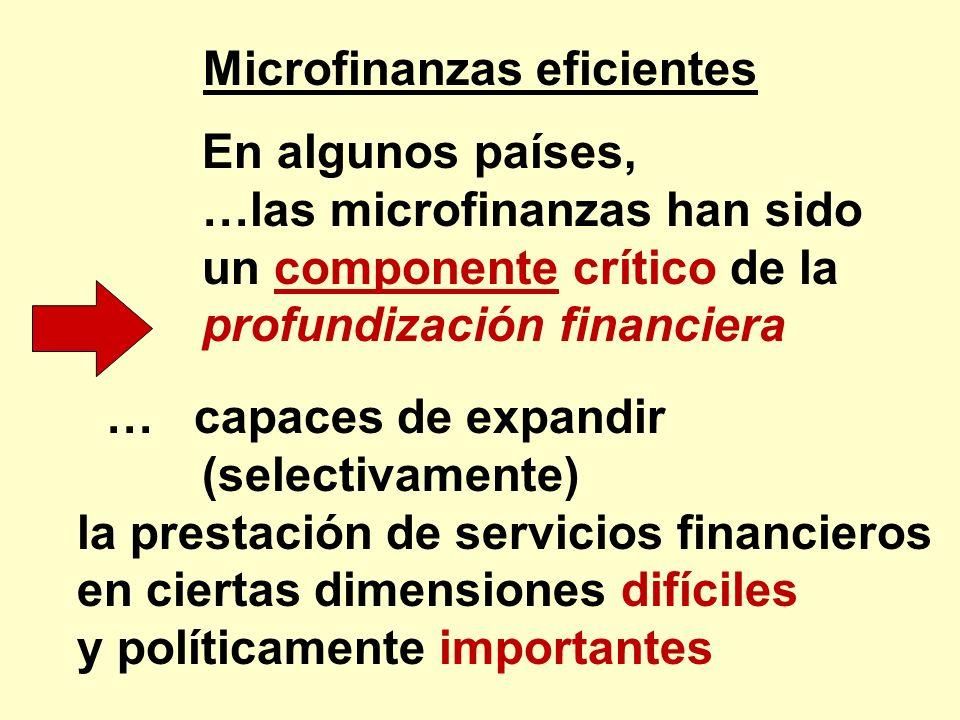 Microfinanzas eficientes