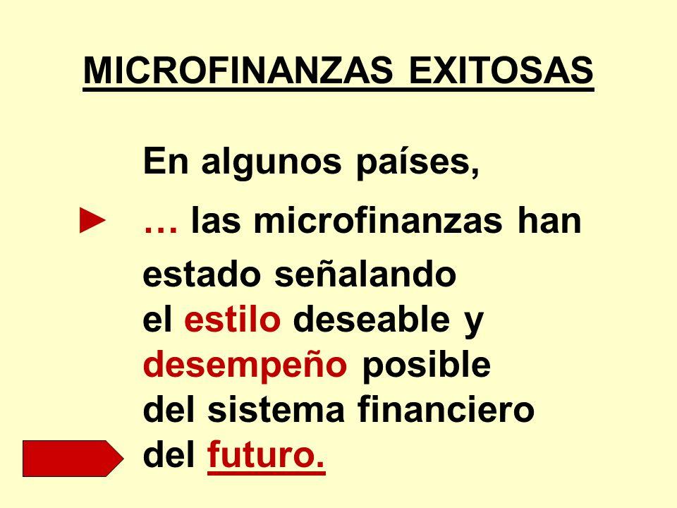 MICROFINANZAS EXITOSAS