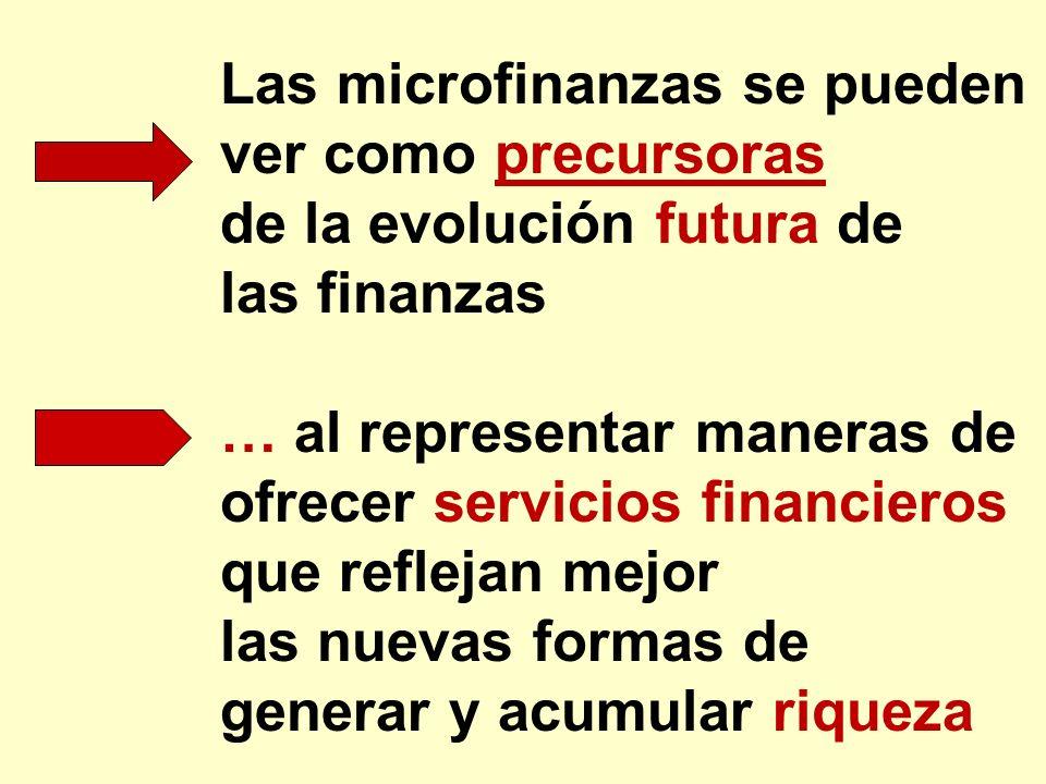 de la evolución futura de las finanzas … al representar maneras de