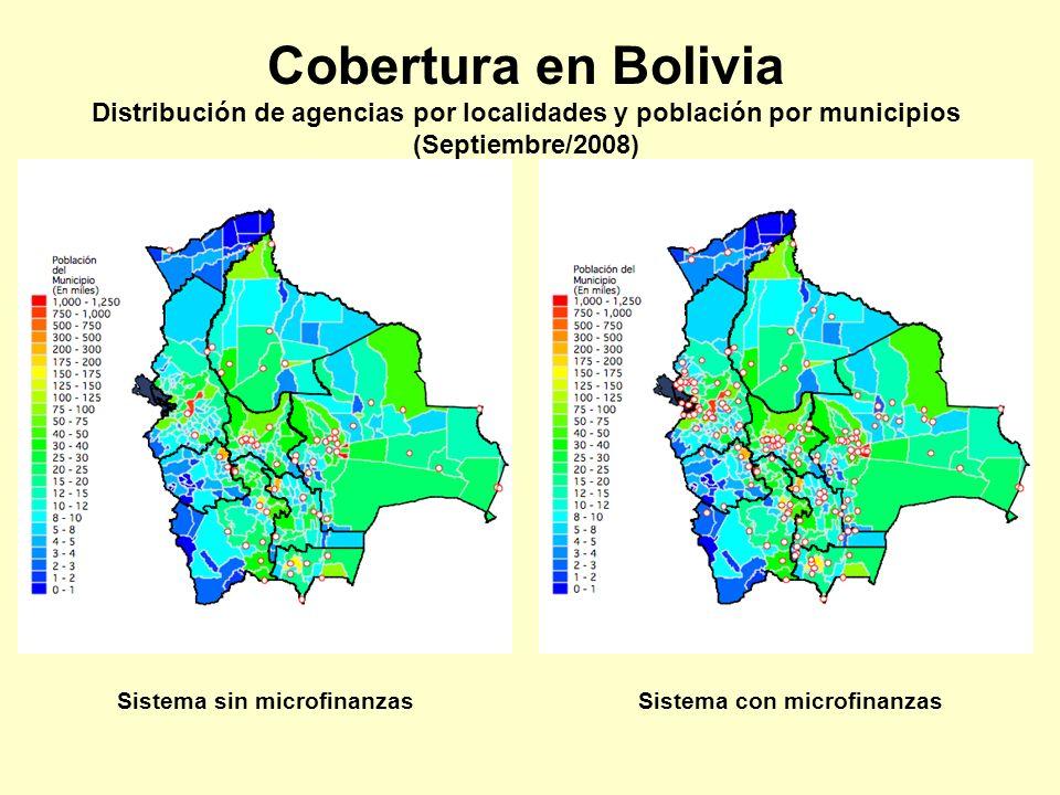 Distribución de agencias por localidades y población por municipios