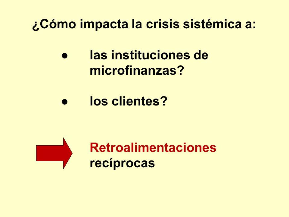 ¿Cómo impacta la crisis sistémica a:
