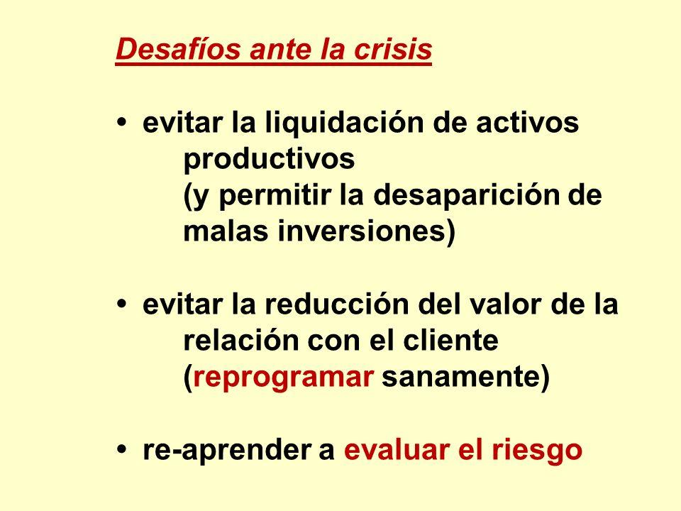 Desafíos ante la crisis