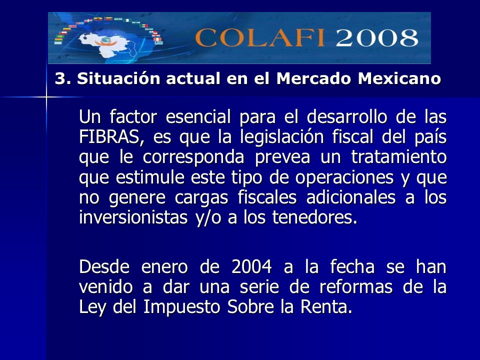 3. Situación actual en el Mercado Mexicano