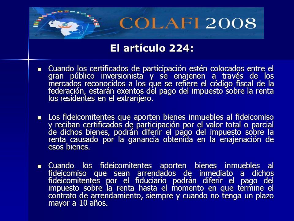 El artículo 224: