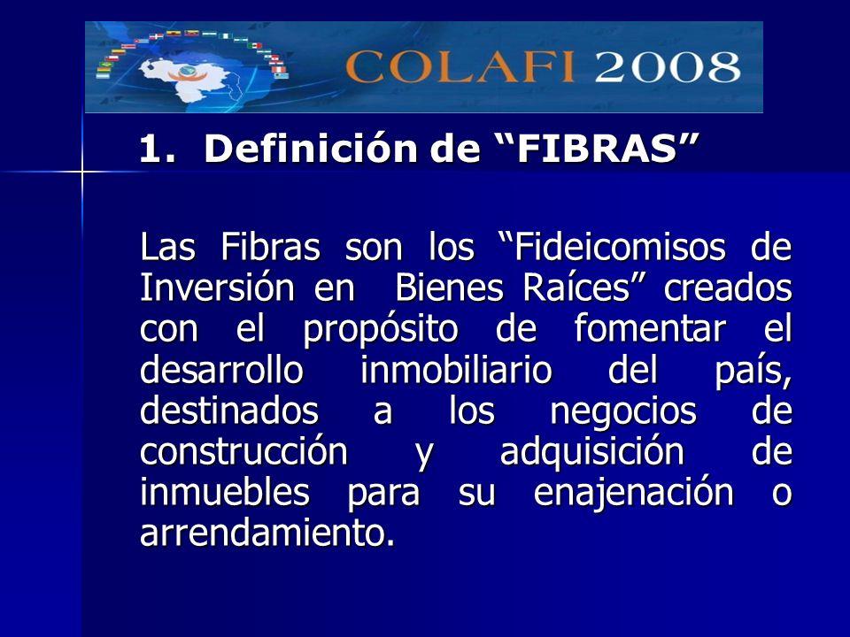1. Definición de FIBRAS