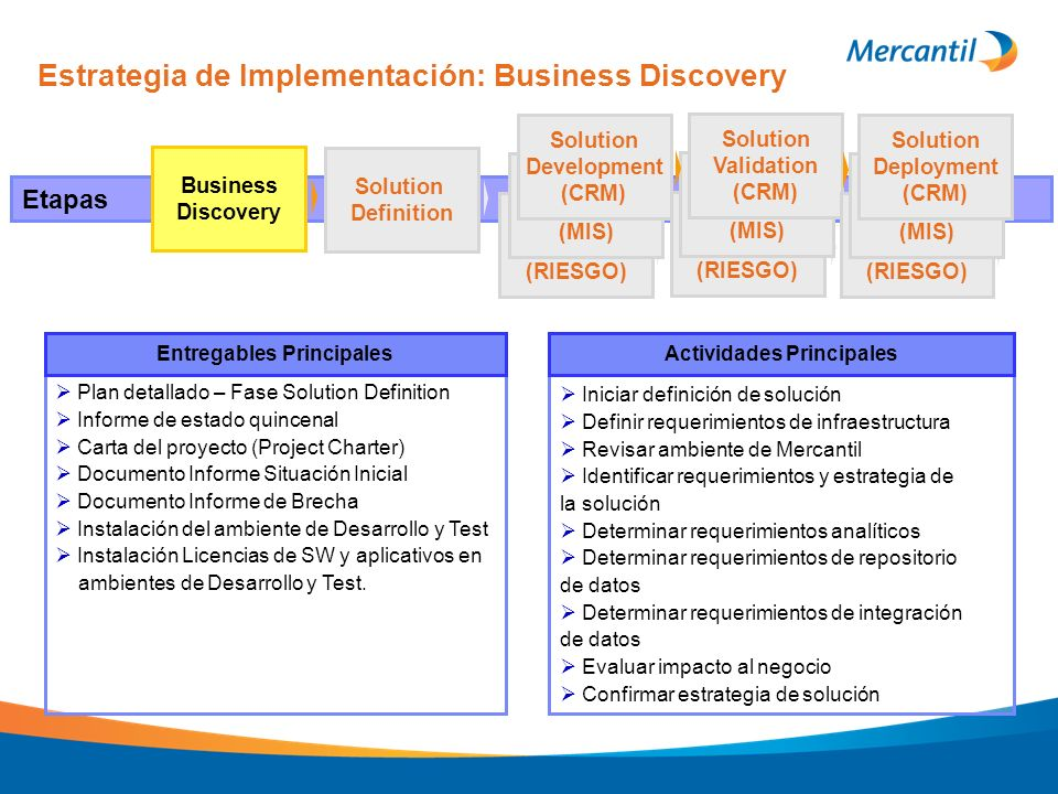 Estrategia de Implementación: Business Discovery