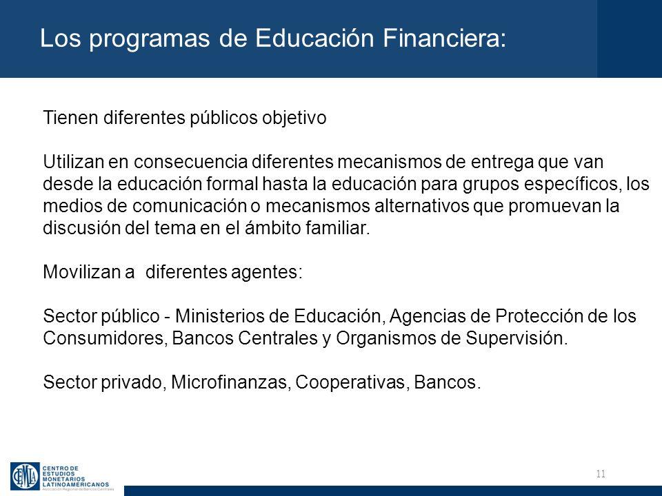 Los programas de Educación Financiera: