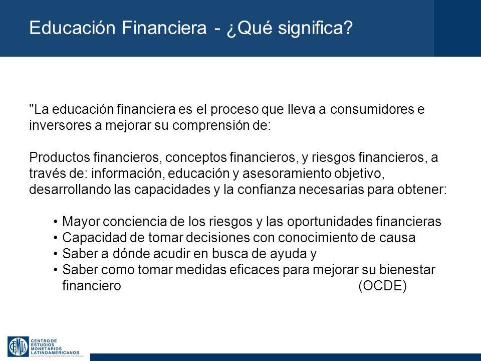 Educación Financiera - ¿Qué significa