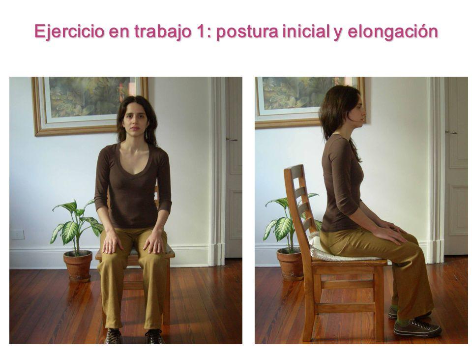 Ejercicio en trabajo 1: postura inicial y elongación