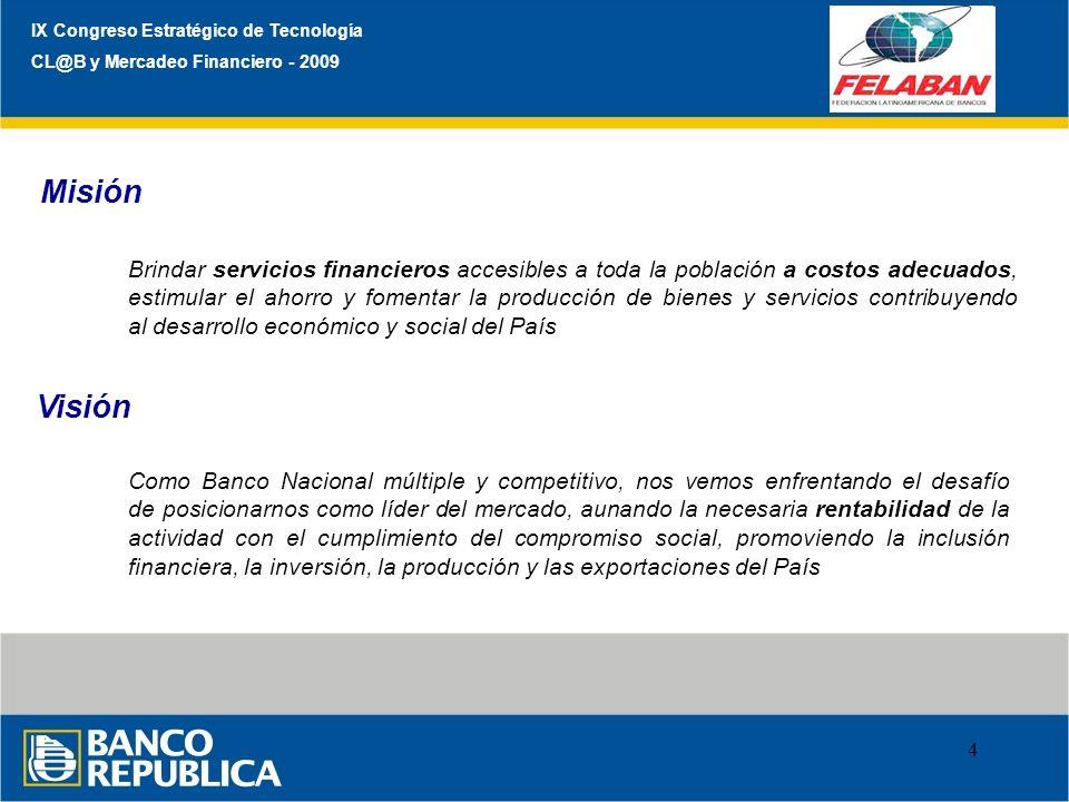 Misión Visión IX Congreso Estratégico de Tecnología
