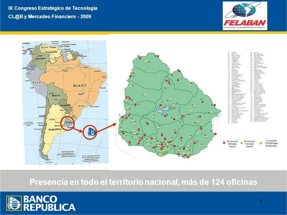 Presencia en todo el territorio nacional, más de 124 oficinas