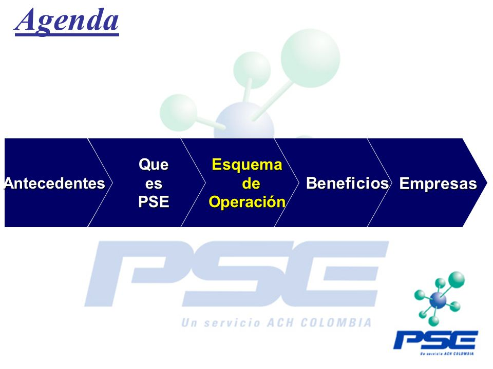 Agenda Beneficios Empresas Antecedentes Que es PSE Esquema de
