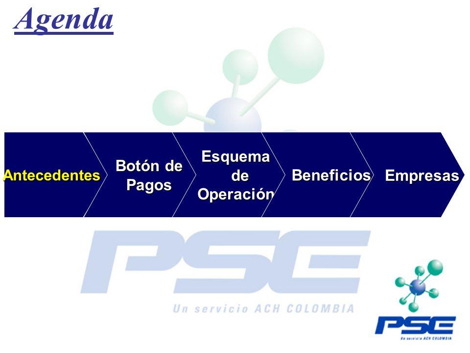 Agenda Botón de Pagos Esquema de Operación Beneficios Empresas