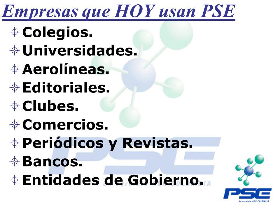 Empresas que HOY usan PSE
