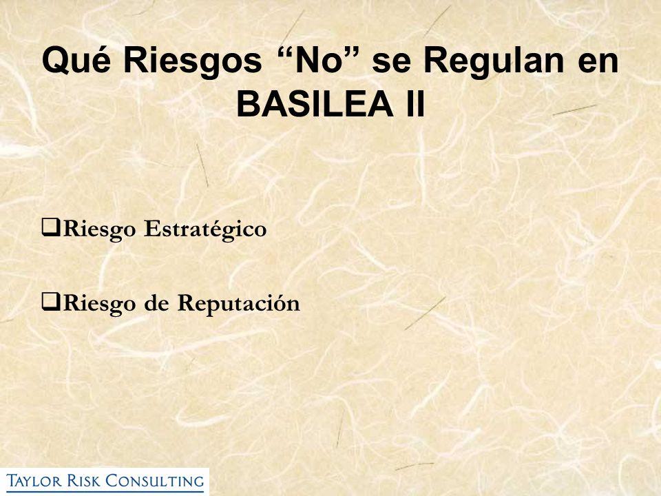 Qué Riesgos No se Regulan en BASILEA II