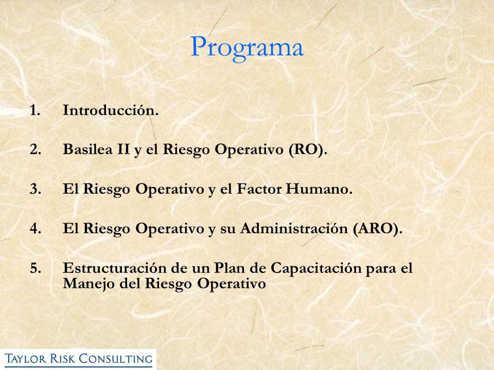 Programa Introducción. Basilea II y el Riesgo Operativo (RO).