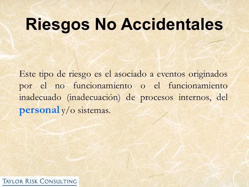 Riesgos No Accidentales