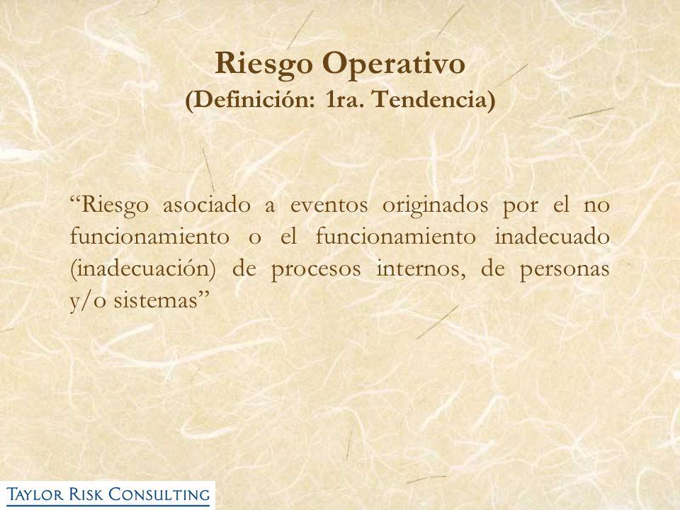 Riesgo Operativo (Definición: 1ra. Tendencia)