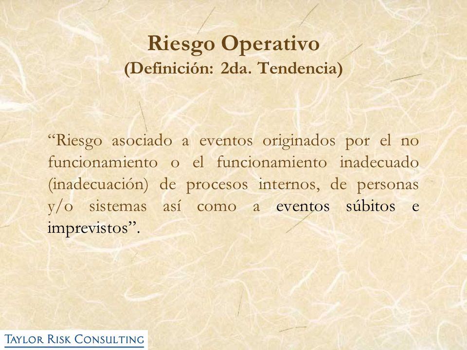 Riesgo Operativo (Definición: 2da. Tendencia)