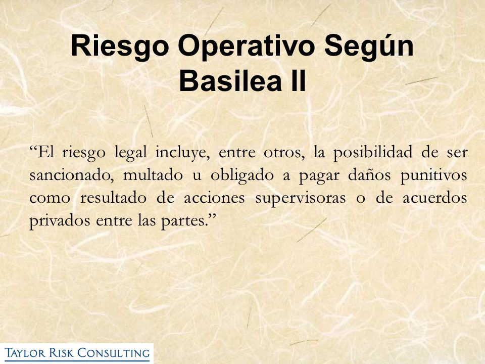 Riesgo Operativo Según Basilea II