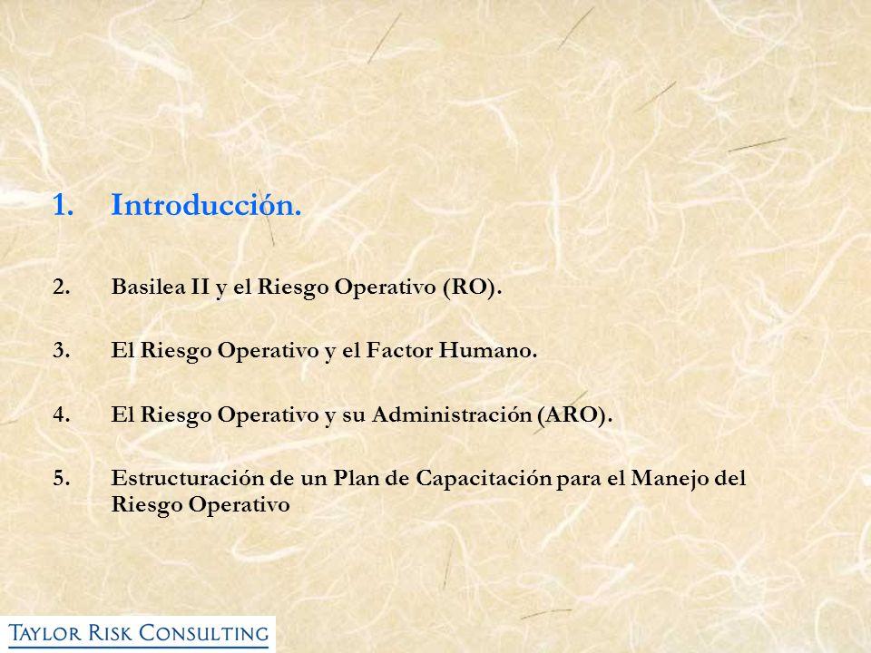 Introducción. Basilea II y el Riesgo Operativo (RO).