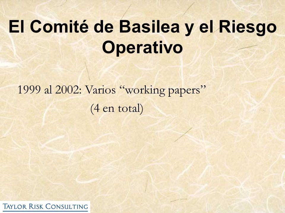 El Comité de Basilea y el Riesgo Operativo
