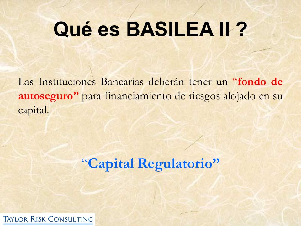 Capital Regulatorio