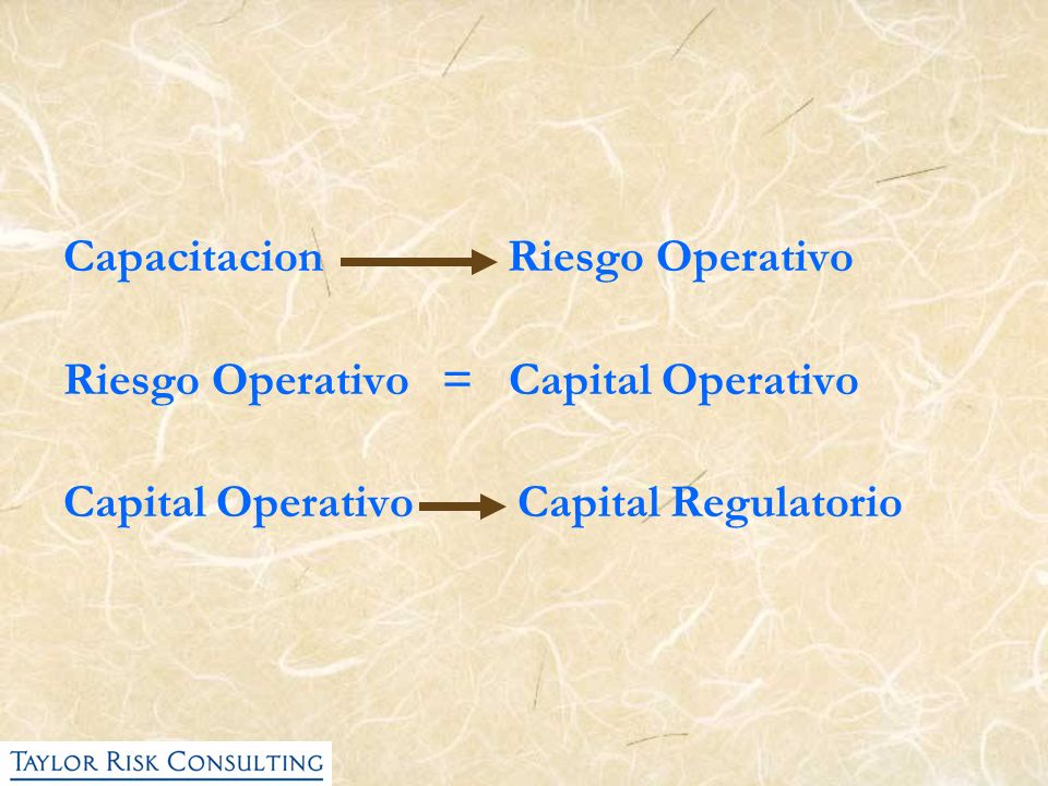 Capacitacion Riesgo Operativo
