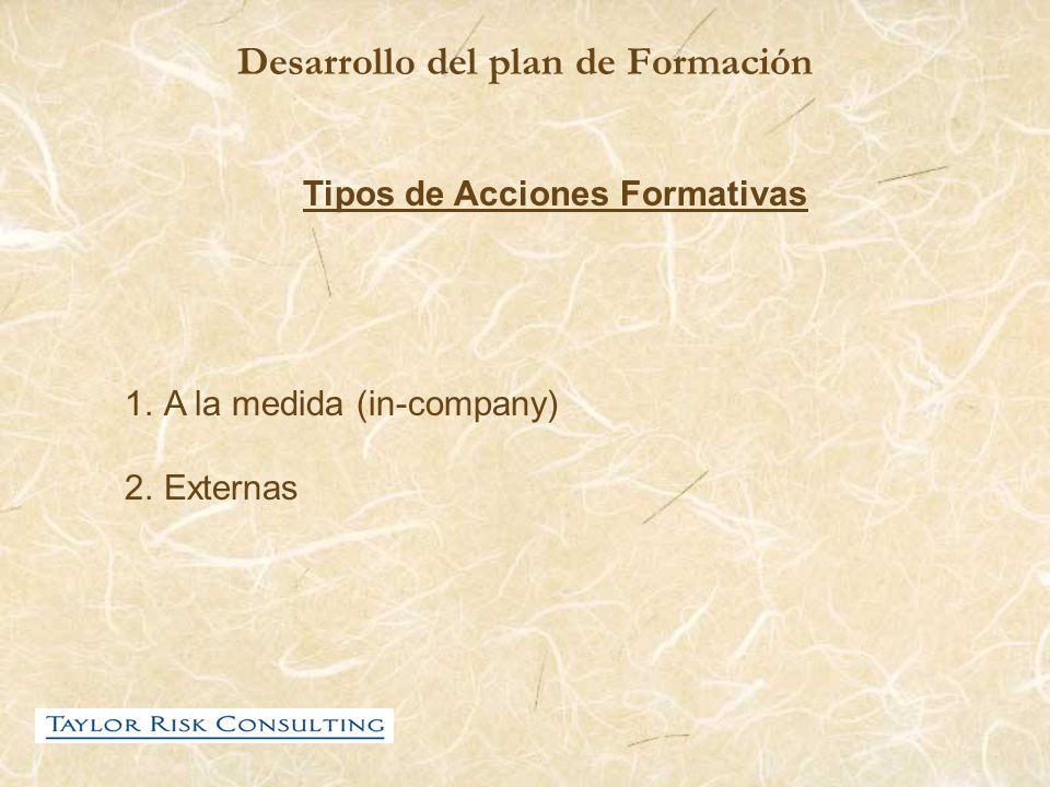 Desarrollo del plan de Formación