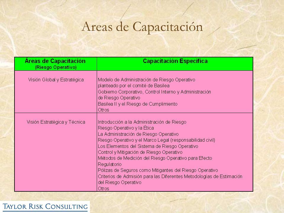 Areas de Capacitación