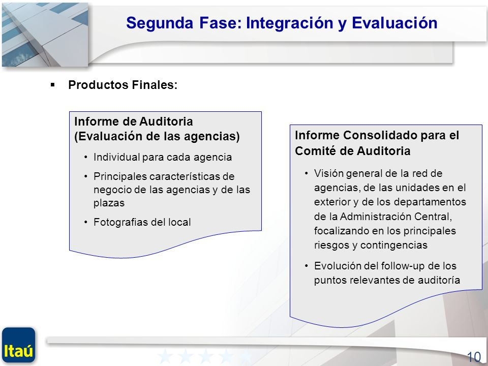 Segunda Fase: Integración y Evaluación