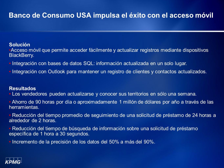Banco de Consumo USA impulsa el éxito con el acceso móvil