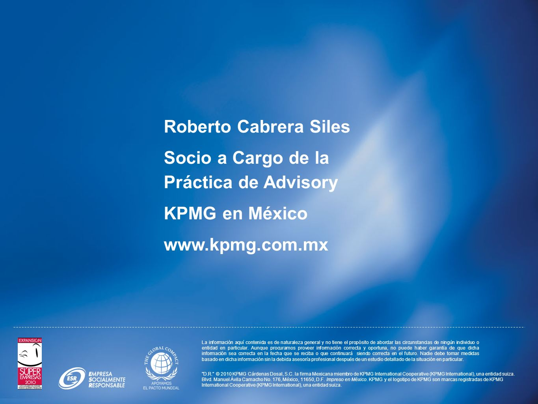 Socio a Cargo de la Práctica de Advisory