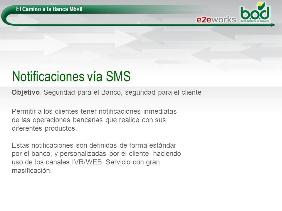 Notificaciones vía SMS