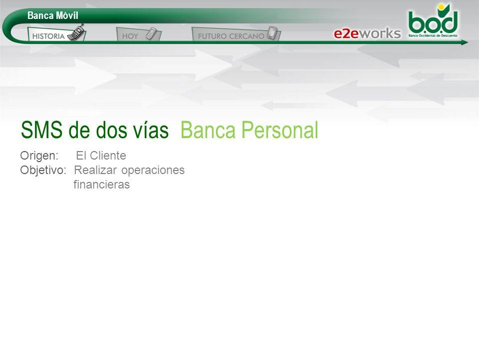 SMS de dos vías Banca Personal