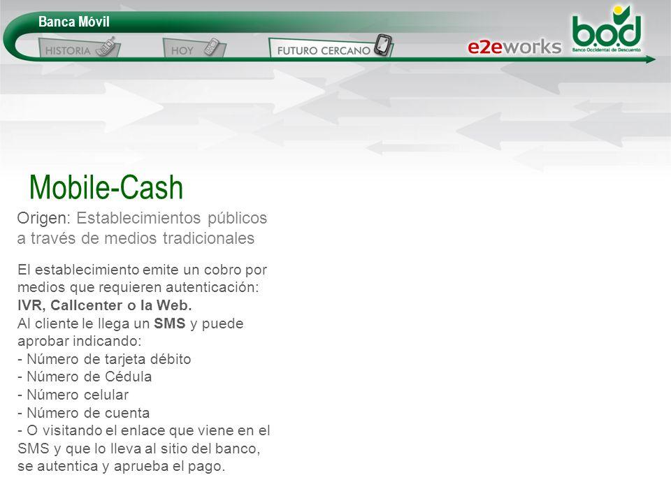 Mobile-Cash Origen: Establecimientos públicos