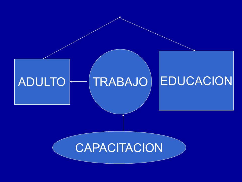TRABAJO EDUCACION ADULTO CAPACITACION