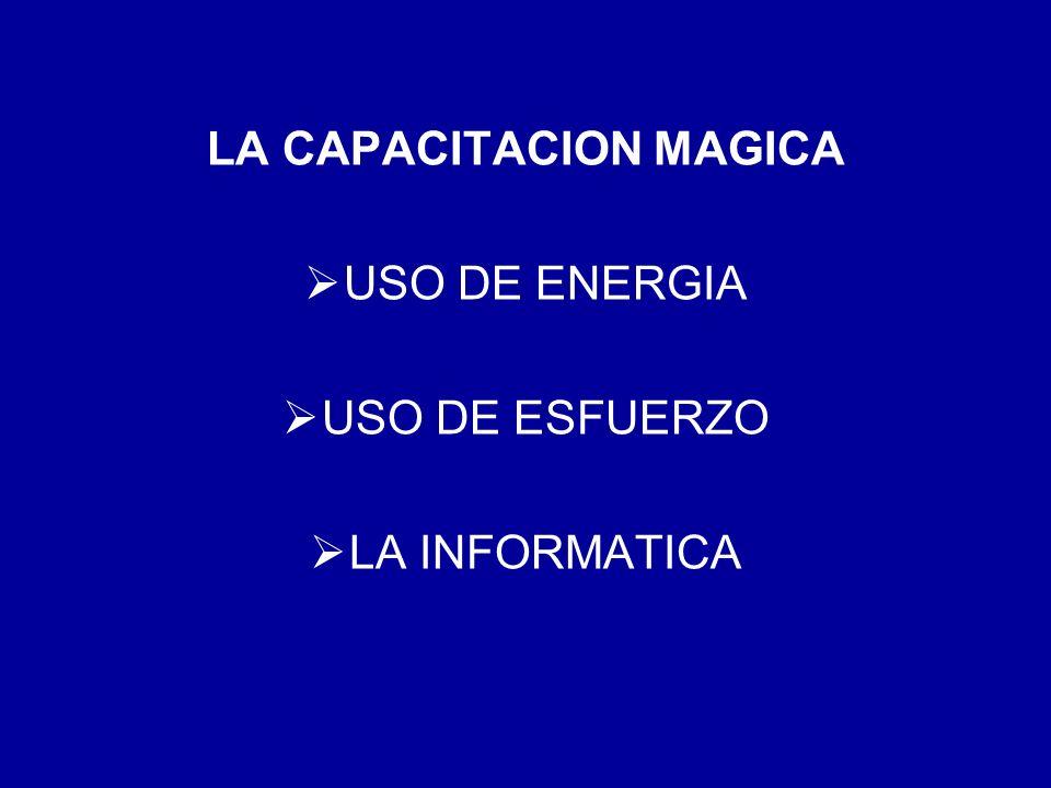 LA CAPACITACION MAGICA