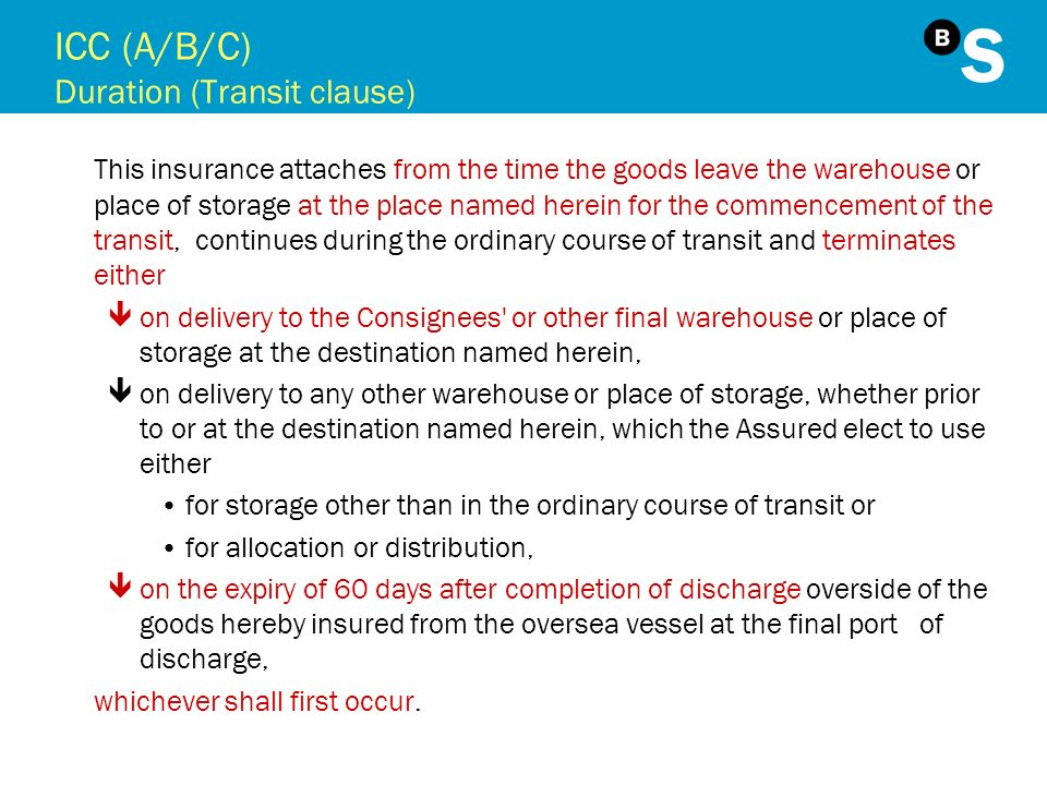 ICC (A/B/C) Duration (Transit clause)