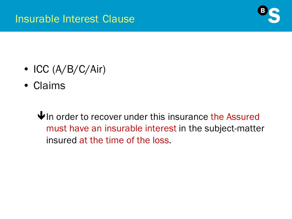 Insurable Interest Clause