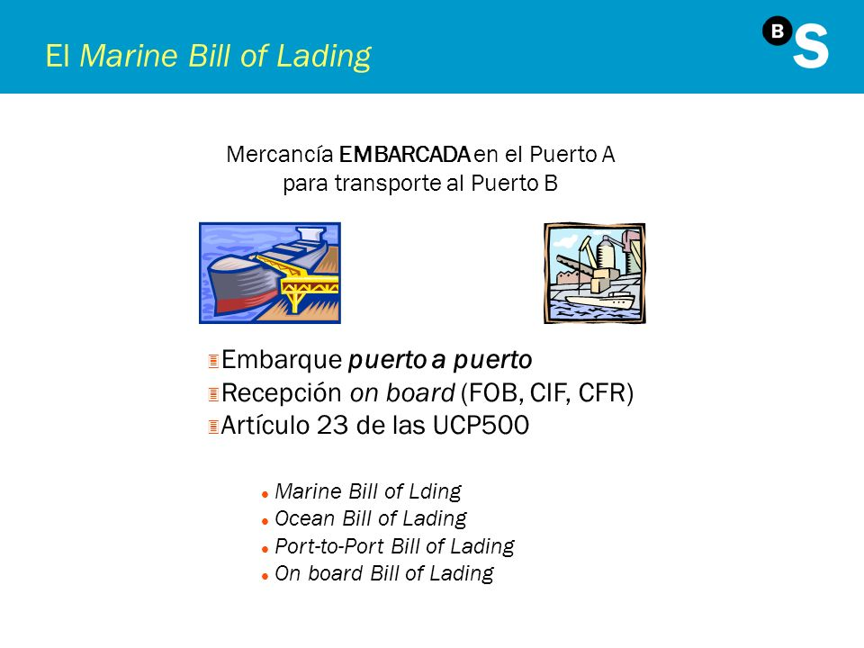 El Marine Bill of Lading