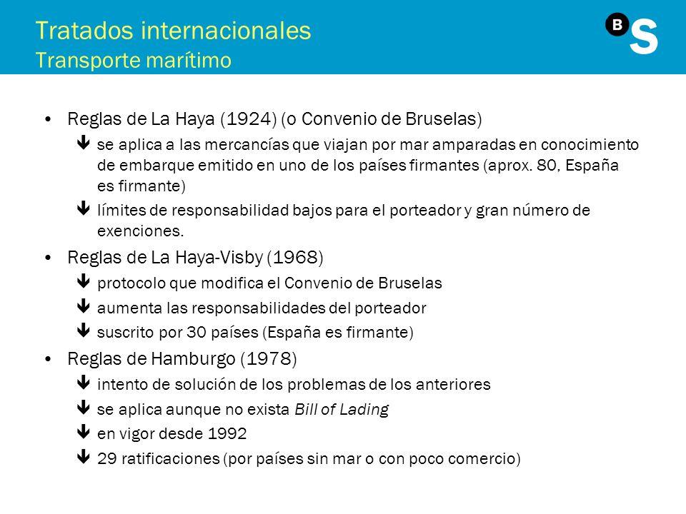 Tratados internacionales Transporte marítimo